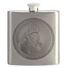 Horse Head Shield Flask