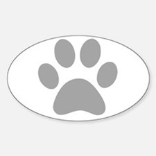 Grey Paw print Decal