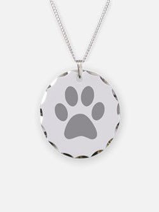 Grey Paw print Necklace