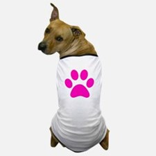 Hot Pink Paw print Dog T-Shirt