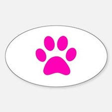 Hot Pink Paw print Decal