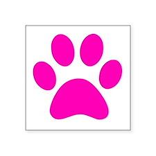 Hot Pink Paw print Sticker