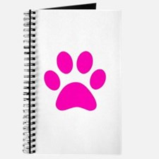 Hot Pink Paw print Journal