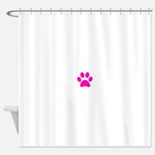 Hot Pink Paw print Shower Curtain