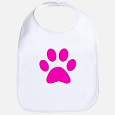 Hot Pink Paw print Bib