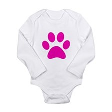 Hot Pink Paw print Body Suit
