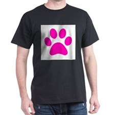 Hot Pink Paw print T-Shirt