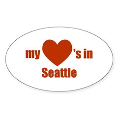Seattle Oval Decal