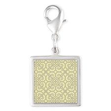 Yellow Moroccan Lattice Ornate Pattern Charms