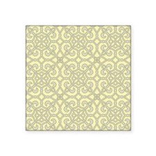 Yellow Moroccan Lattice Ornate Pattern Sticker