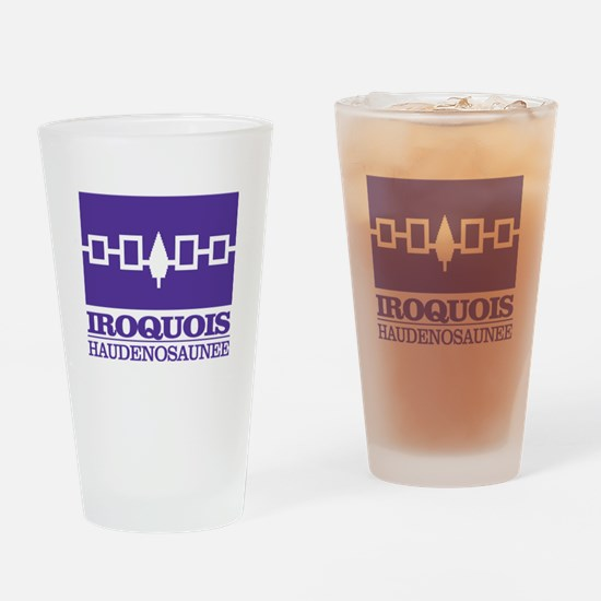 Iroquois Flag Drinking Glass
