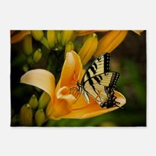 Swallowtail Butterfly 5'x7'Area Rug