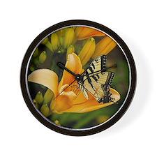Swallowtail Butterfly Wall Clock