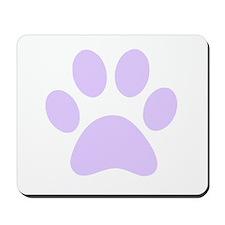 Purple Paw print Mousepad