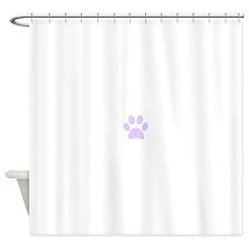 Purple Paw print Shower Curtain