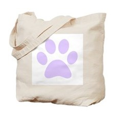 Purple Paw print Tote Bag