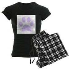 Purple Paw print pajamas
