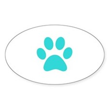 Turquoise Paw print Decal