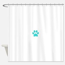 Turquoise Paw print Shower Curtain