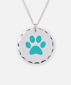 Turquoise Paw print Necklace