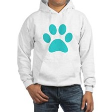 Turquoise Paw print Jumper Hoody
