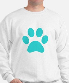 Turquoise Paw print Jumper