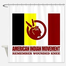 American Indian Movement Shower Curtain