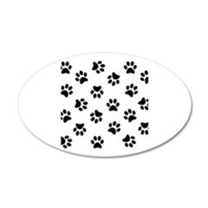 Black Pawprint pattern Wall Sticker