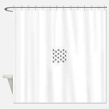 Black Pawprint pattern Shower Curtain