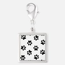 Black Pawprint pattern Charms