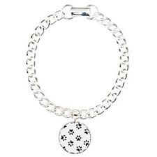 Black Pawprint pattern Bracelet