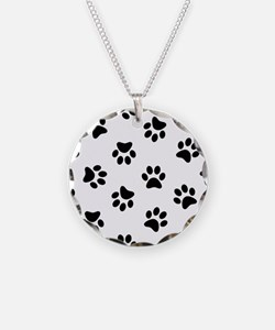 Black Pawprint pattern Necklace