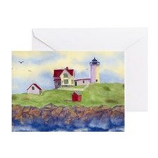 NUBBLE LIGHT HOUSE  Greeting Card