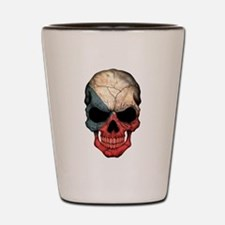Czech Republic Flag Skull Shot Glass