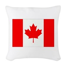 Canada Flag Gifts Woven Throw Pillow