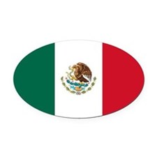 Meican flag gifts Oval Car Magnet