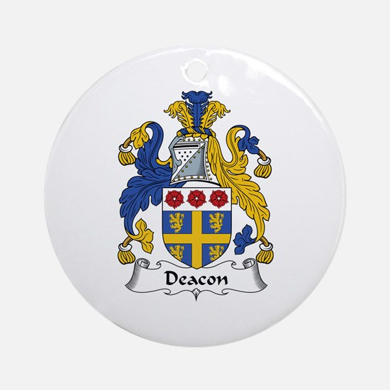 Deacon Ornament (Round)