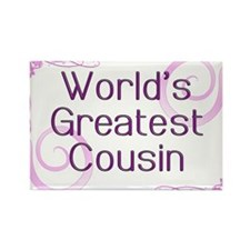 World's Greatest Cousin Rectangle Magnet