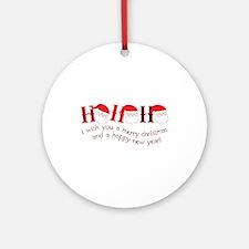 I Wish You A Merry Christmas Ornament (Round)