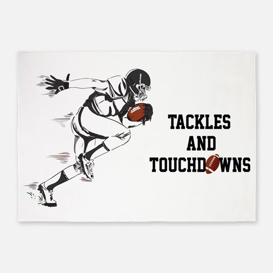 Tackles And Touchdowns 5'x7'Area Rug