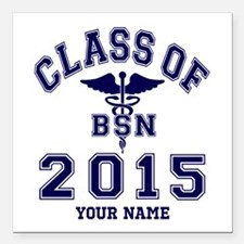 """Class Of 2015 BSN Square Car Magnet 3"""" x 3"""""""