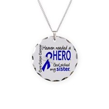 Colon Cancer HeavenNeededHer Necklace Circle Charm