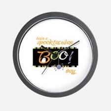 Have A Spooktacular Day Wall Clock