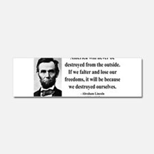 Cute Political quotes Car Magnet 10 x 3