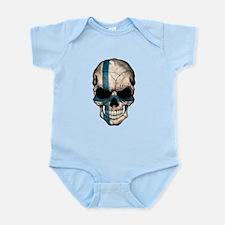 Finnish Flag Skull Body Suit