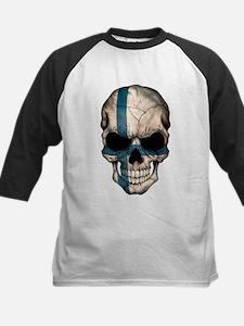 Finnish Flag Skull Baseball Jersey