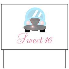 Sweet 16 Baby Blue Car Yard Sign