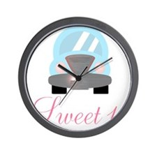 Sweet 16 Baby Blue Car Wall Clock