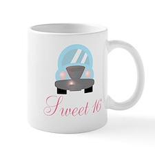 Sweet 16 Baby Blue Car Mugs