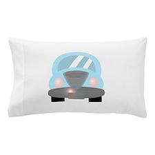 Cute Baby Blue Car 2 Pillow Case